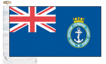 Combined Cadet Force CCF Naval Section Ensign Courtesy Boat Flags (Roped and Toggled)